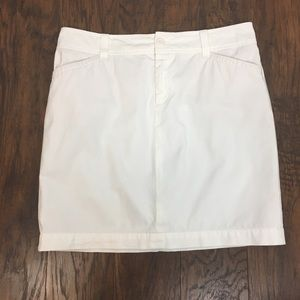 Lilly Pulitzer White Cotton Pencil Skirt 8